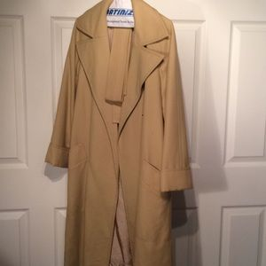 Jackets & Blazers - NOS Jean Patou camel wool belted coat